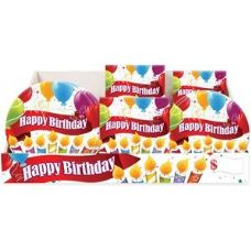 Happy Birthday Candles Pre-Packed Counter Shipper, 96 Ct. - Party Paper Goods