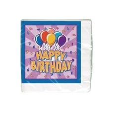 144 Units of Birthday Balloon Luncheon Napkins - 16 CT. - Party Paper Goods