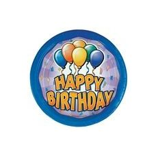 "72 Units of Birthday Balloon 9"" Plate - 8CT. - Party Paper Goods"