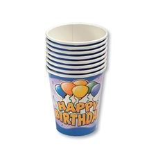 24 Units of Birthday Balloon Cups - 8CT. - Party Paper Goods