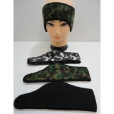 144 Units of Wrap Around Headband with Velcro--3 Colors - Ear Warmers