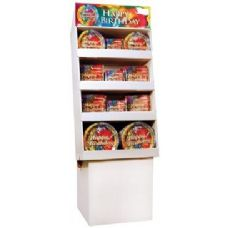Happy Birthday Tie Dye Pre-Packed Floor Shipper, 156 Ct. - Party Paper Goods