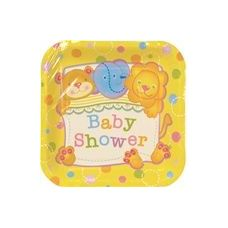 "72 Units of Baby Shower 7"" Plate - 8CT. - Party Paper Goods"