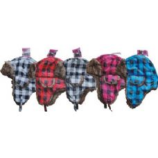 48 Units of Checker Box Aviator Hat - Trapper Hats