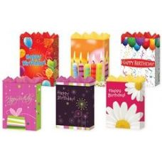 "144 Units of Happy Birthday 6 Asst. Jumbo 13"" x 18"" x 4"" - Gift Bags Assorted"