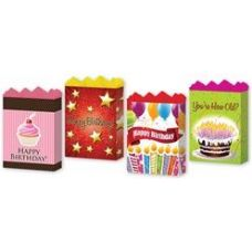"288 Units of Happy Birthday Assortment #2 4 Asst. Medium 7"" x 9"" x 3.75"" - Gift Bags Assorted"