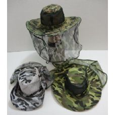 60 Units of Camo Mesh Boonie with Mesh Flap - Cowboy & Boonie Hat