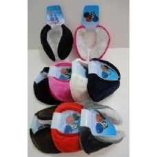 72 Units of Earmuffs with Fur Inside--Solid Color - Ear Warmers