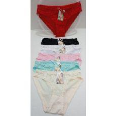 144 Units of Ladies Panties-Lace Front & Rippled Edge - Womens Panties & Underwear