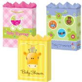 288 Units of Gift-Bag Medium Mat Baby Shower 3 Styles - Gift Bags Baby