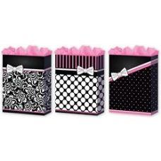 """288 Units of Pretty in Pink 3 Asst. Medium 7"""" x 9"""" x 3.75"""""""