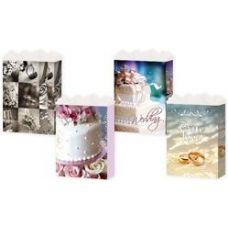 144 Units of Gift-Bag Jumbo Gls Wedding 3 Styles - Gift Bags Assorted