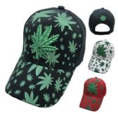36 Units of Embroidered/Printed Marijuana Hat - Baseball Caps & Snap Backs