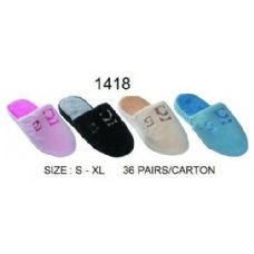 36 Units of Ladies Plush Slipper - Womens Slippers