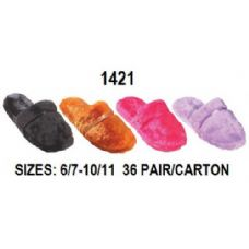 36 Units of Laddies Plush Slipper - Womens Slippers
