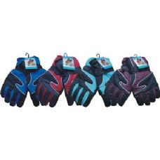 48 Units of Mens Heavy Duty Ski Glove Assorted Colors