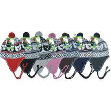 96 Units of Kids Fleeced Lined Helmet Hat - Junior / Kids Winter Hats