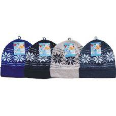 36 Units of Unisex Winter Snowflake BeanieHat - Winter Helmet Hats