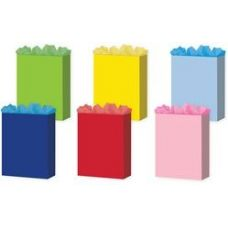 "288 Units of Solid Colors 6 Asst. Medium 7"" x 9"" x 3.75"" - Gift Bags Assorted"