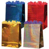 144 Units of Gift-Bag Jumbo Hologram 4 Colors