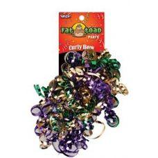 192 Units of Curled Ribbon Bow - Mardi Gras, Pegable Single - Bows & Ribbons
