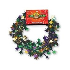 288 Units of Wire Garland - Green/Purple/Gold Stars - 25 ft.