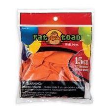 "144 Units of 12CT 12"" Deco-Sunburst Orange - Balloons/Balloon Holder"