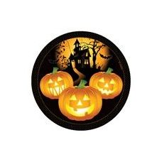 "144 Units of Haunted House 7"" Plate-8 Piece"