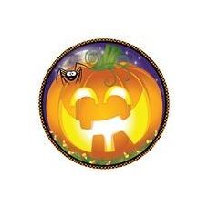 "72 Units of Pumpkin Grins 9"" Plate - 8CT."