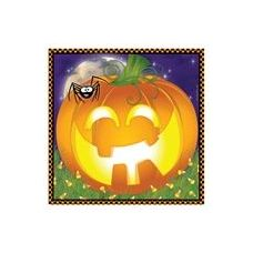 144 Units of  Pumpkin Grins Beverage Napkins - 16CT.