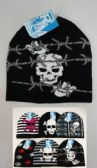24 Units of Knit Beanie--Assorted Skulls