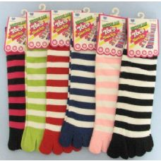 144 Units of Strip Toe Sock - Women's Toe Sock