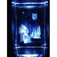 24 Units of 3D Laser Etched Crystal-American Indian - Etched Crystal Figurines