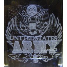 48 Units of 3D Laser Etched Crystal-Army - Laser Etched Crystal