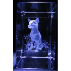 24 Units of 3D Laser Etched Crystal-Dog - Etched Crystal Figurines