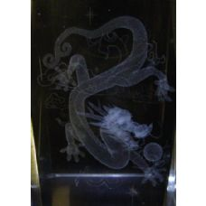 24 Units of 3D Laser Etched Crystal-Dragon - Etched Crystal Figurines