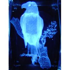 24 Units of 3D Laser Etched Crystal-Eagle in Tree - Etched Crystal Figurines