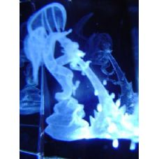 24 Units of 3D Laser Etched Crystal-Fire Breathing Dragon - Etched Crystal Figurines