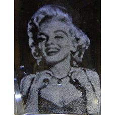 48 Units of 3D Laser Etched Crystal-Marilyn Monroe - Etched Crystal Figurines