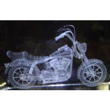 48 Units of 3D Laser Etched Crystal-Motorcycle - Laser Etched Crystal
