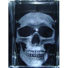 48 Units of 3D Laser Etched Crystal-Skull - Etched Crystal Figurines