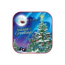 "72 Units of  Christmas Night 7"" Plate - 8CT. - Party Paper Goods"