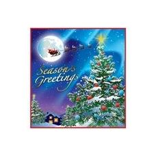 144 Units of Christmas Night Beverage Napkins - 16CT. - Party Tableware