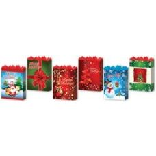 "144 Units of Holiday 6 Asst. Large 10.25"" x 12.75"" x 5"" - Christmas Gift Bags and Boxes"