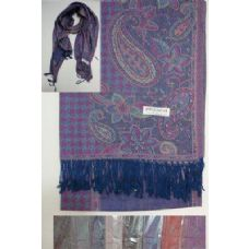 72 Units of Pashmina with Fringe--Houndstooth & Paisley - Winter Pashminas and Ponchos