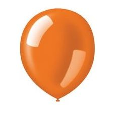 "40 Units of 72CT 12"" Deco-Sunburst Orange - Balloons & Balloon Holder"