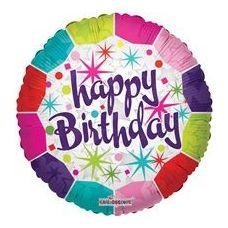 """100 Units of Mylar 18"""" DS - Happy Birthday Fresh - Balloons & Balloon Holder"""