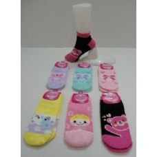 48 Units of Low Cut Printed Super Soft Fuzzy Socks 9-11