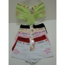 144 Units of Ladies Panties-Embroidered LOVE - Womens Panties / Underwear