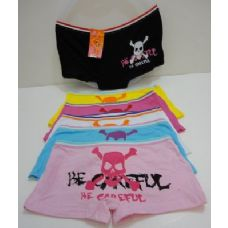 144 Units of Womans Skull Design Underwear - Womens Panties & Underwear